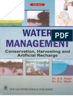 Water Management conservation, Harvesting and artificial recharge