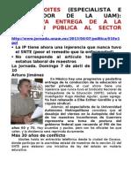 HUGO ABOITES PROGRESIVA ENTREGA DE A LA EDUCACIÓN PÚBLICA AL SECTOR PRIVADO.doc