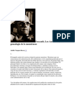 Los Anormales, Genealogia de Los Mounstroso Foucault