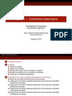 Capítulo 1. Estadística descriptiva