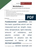 Worksheet 1 Fisika Vii