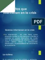 Elementos Que Intervienen en La Crisis