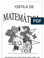 Apostila  matemática