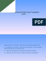 Developing Receptive Skills