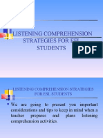Presentacion Nº9 Strategies for listening practice