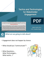 Tactics and Technologies for Stakeholder Engagement