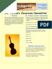 western musical classroom newsletter