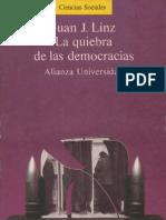 La Quiebra de Las Democracias LINZ J