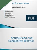Week 14 - Antitrust and Anti-Competitive Behavior