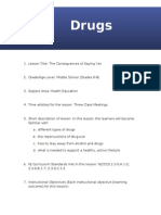 lesson plan - drugs