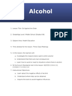 lesson plan - alcohol