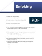 lesson plan - smoking