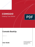 Comodo Backup User Manual