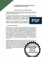 Informe Del Registro de Des Plaza Dos Del Depart Amen To de Ica