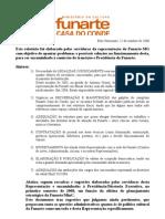 Relatório de problemas e sugestões Funarte-BH-MG-2008