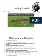 Coaching Football-Youth and Middle Schooli Like the Best