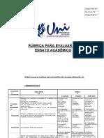 FTO 001 Rubrica Ensayo Academico
