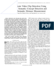 Near-Duplicate Video Clip Detection Using Model-Free Semantic Concept Detection and Adaptive Semantic Distance Measurement