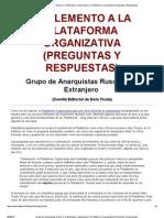 Grupo de Anarquistas Rusos en El Extranjero_ Suplemento a La Plataforma Organizativa (Preguntas y Respuestas)