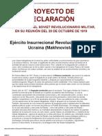 Ejército Insurrecional Revolucionario de Ucraina (Makhnovista)_ Proyecto de declaración