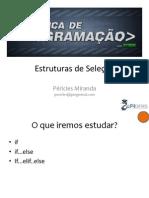 Aula 5.1 - Estruturas de Selecao (1)