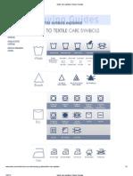 Sears Care Symbols