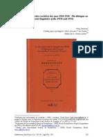 O diálogo na linguística soviética dos anos 1920-1930