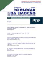 Revista Brasileira de Sociologia da Emoção v1 n2 ago2002