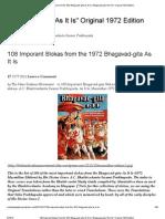 108 Imporant Slokas From the 1972 Bhagavad-Gita as It is _ Bhagavad-Gita _As It Is_ Original 1972 Edition