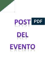Post Evento