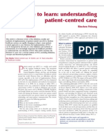 Time to Learn. Understanding Patient Centered Care