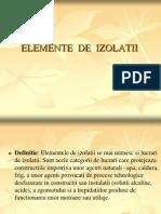 Elemente de Izolatii