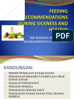 Feeding Recommendations During Sickness and Healthy