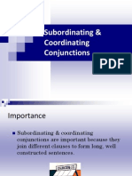 Subordinating Coordinating Conjunctions