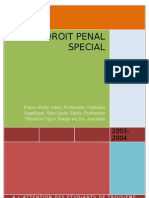 Droit Penal Special