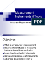Measurement instruments and tools