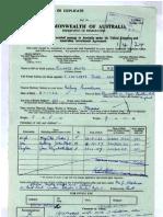 Mr Tony Abbott Assisted Migration Scheme Application Form 1960