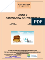 CRISIS Y ORDENACION DEL TERRITORIO (Es) CRISIS AND SPATIAL PLANNING (Es) KRISIALDIA ETA LURRALDE ANTOLAKETA (Es)