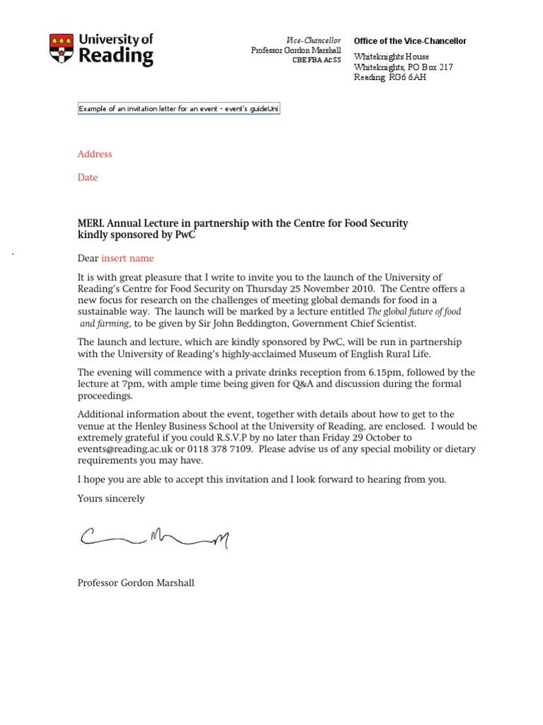Invitation letter example stopboris Gallery