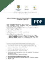 Tematica de Pregatire Pentru Studenti _de La Dr. CORNECI- POSDRU 2013