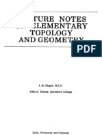 Singer Thorpe - Lecture Notes on Elementary Topology and Geometry