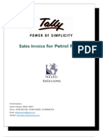 User Manual With FAQs- Sales Invoice for Petrol Pumps