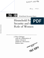 Gittinger, J. Price & Sidney Chernick Et Al. 1990 'Household Food Security and the Role of Women' World Bank Discussion Papers, 96 (37 Pp.)