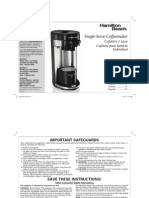 Hamiltion Beach Single-Serve Coffeemaker 49995 K Cup