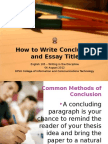 How to Write Conclusions and Titles