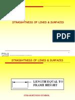 Straightness of Lines s