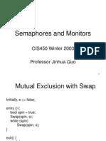 Semaphores Monitors
