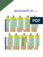 Calendar Scolar 2013 2014