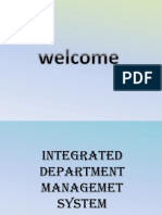 Integrated Department Management System