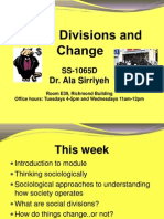 Social Divisions and Change Lecture 1